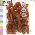 2015 Upixel bags Малки силиконови чипове Coffee&Milk WY-P002-R