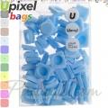 2015 Upixel bags Малки силиконови чипове Light Blue WY-P002-O
